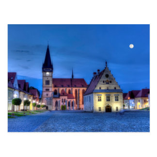 Old town square in Bardejov, Slovakia,HDR Postcard