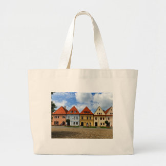 Old town square in Bardejov, Slovakia Large Tote Bag