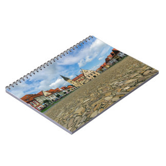 Old town square in Bardejov, Slovakia Spiral Notebook