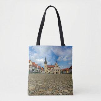 Old town square in Bardejov, Slovakia Tote Bag