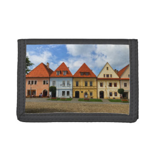 Old town square in Bardejov, Slovakia Trifold Wallets