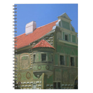 Old town square surrounded by 16th-century 2 note book