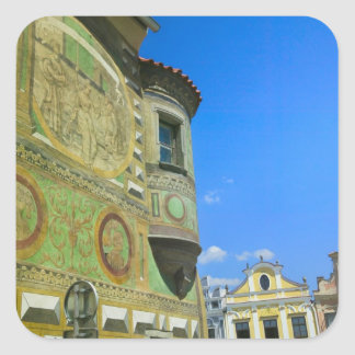 Old town square surrounded by 16th-century square sticker