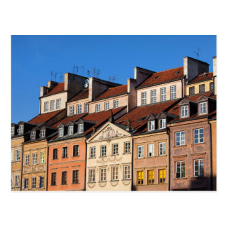 Old Town Tenement Houses in Warsaw Postcard
