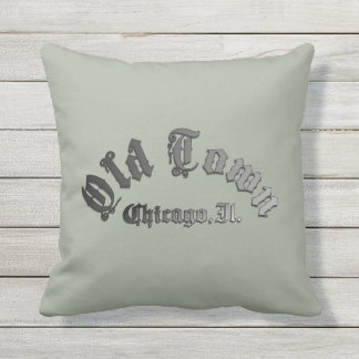 "Old Town Throw Pillow 16"" x 16"" 2 sided"
