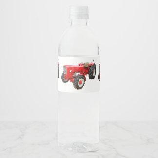 Old tractor Güldner Water Bottle Label