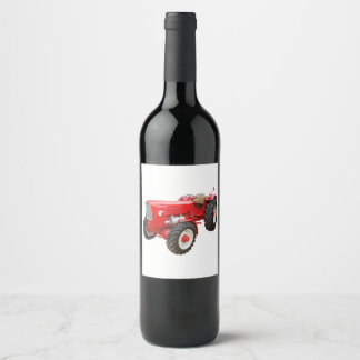 Old tractor Güldner Wine Label