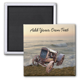 OLD TRACTOR IN SURF- -MAGNET MAGNET