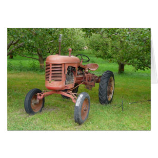 Old Tractor in the Orchard Card