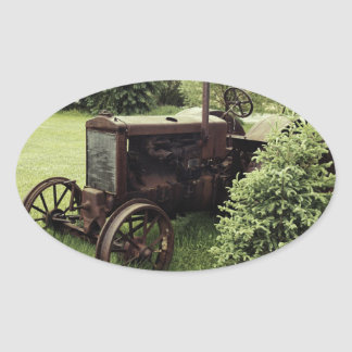 OLD TRaCTOR Oval Sticker