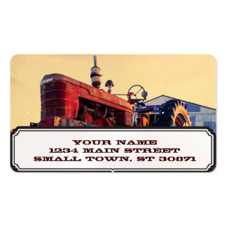 old tractor red machine vintage pack of standard business cards