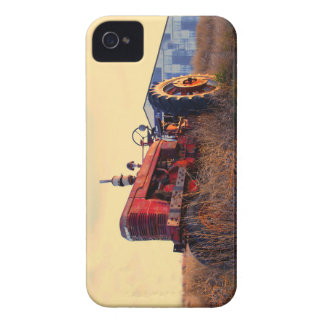 old tractor red machine vintage iPhone 4 cases