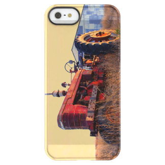 old tractor red machine vintage permafrost® iPhone SE/5/5s case