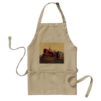 old tractor red machine vintage standard apron