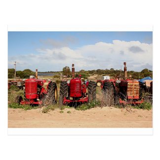 Old tractors farm machinery Australia Postcard