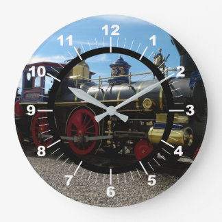 Old Train Large Clock