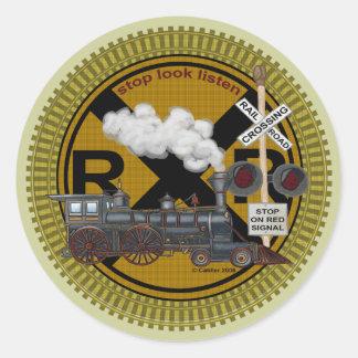 Old Train Round Sticker