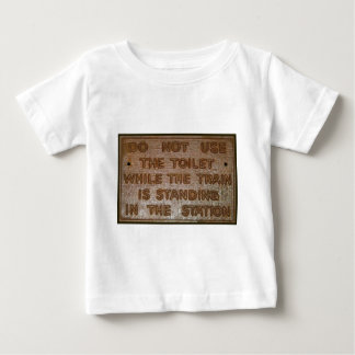 old train toilet sign shirt