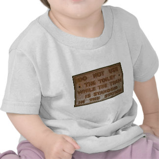 old train toilet sign tee shirt