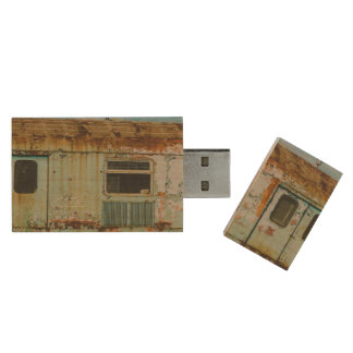 Old train wood USB 2.0 flash drive