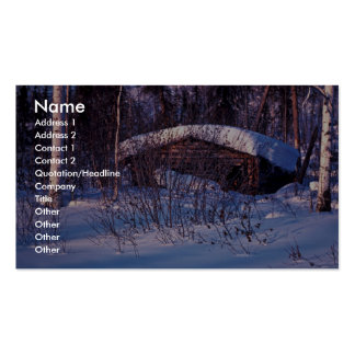 Old Trapper s Cabin Business Card Template