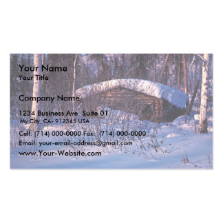 Old Trapper's Cabin Business Card
