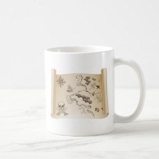 Old Treasure map on scroll Coffee Mug