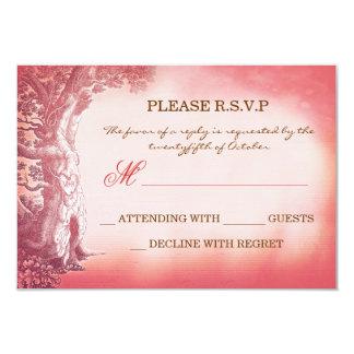 old tree vintage rustic wedding RSVP cards 9 Cm X 13 Cm Invitation Card