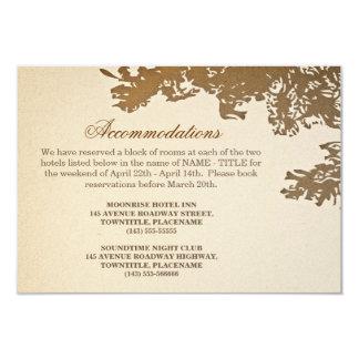 old tree vintage wedding accomodation design personalized invitations
