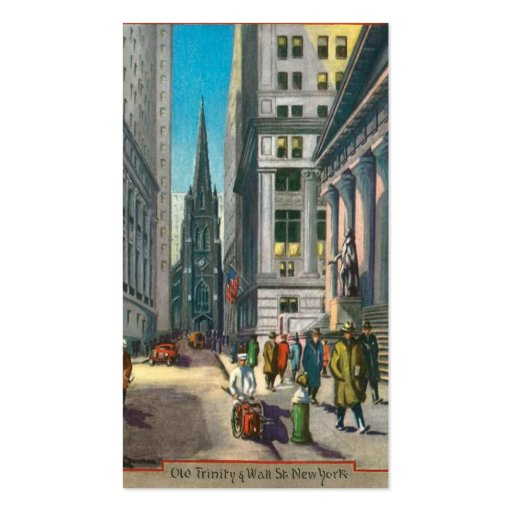 Old Trinity & Wall Street, New York Pack Of Standard Business Cards