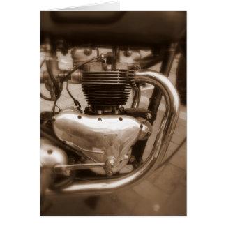 Old Triumph Engine Card
