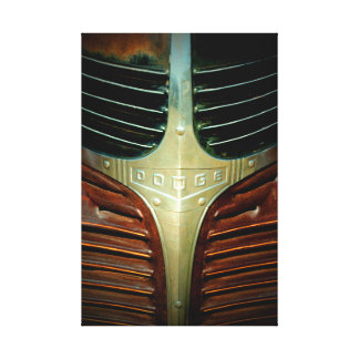 Old Truck Grille Badge Canvas Print