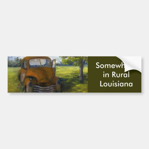 Old Truck in Louisiana Field, Fine Art Bumper Stickers