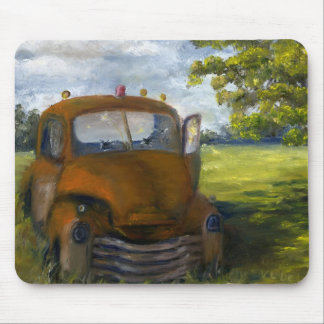 Old Truck in Louisiana Field, Fine Art Mouse Pad