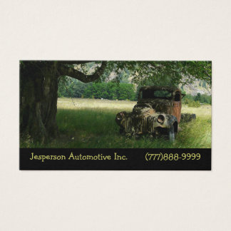Old Truck Under the Tree Vintage Auto Business Card