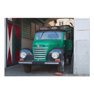 Old truck with beer - print photographic print