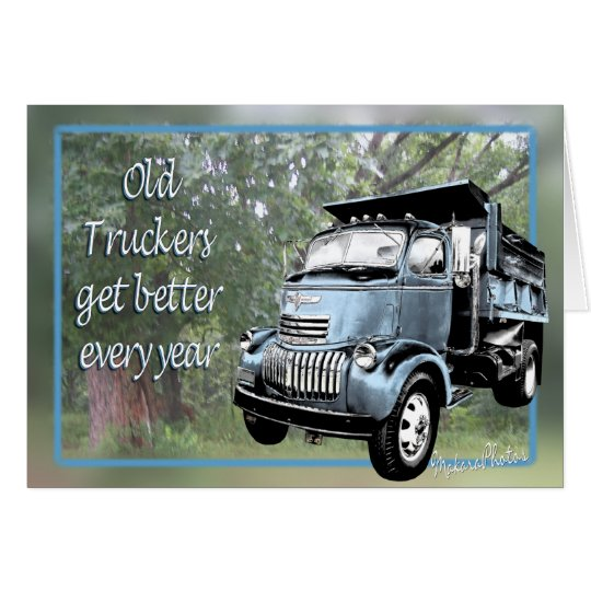 Old Truckers Card-csutomize Card