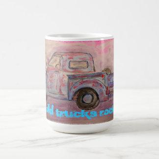 Old Trucks Rock Basic White Mug