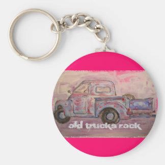 Old Trucks Rock Keychain