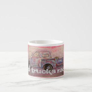 Old Trucks Rock Espresso Mugs