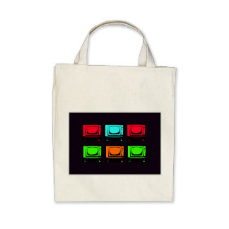 Old Tv Collage Tote Bag