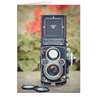 Old twin lens camera card