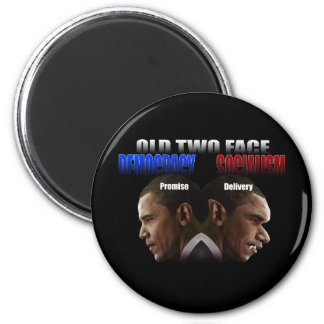 Old Two Face Refrigerator Magnets