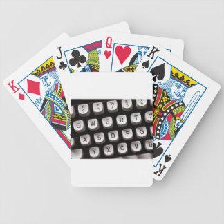 Old Typewriter Bicycle Playing Cards