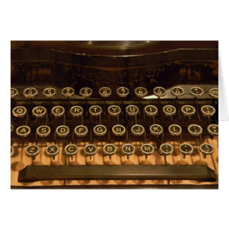 Old Typewriter for birthday Card