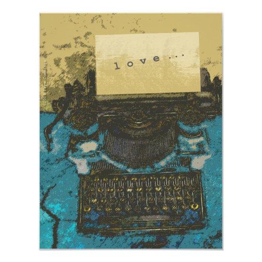 Old Typewriter Love... Card