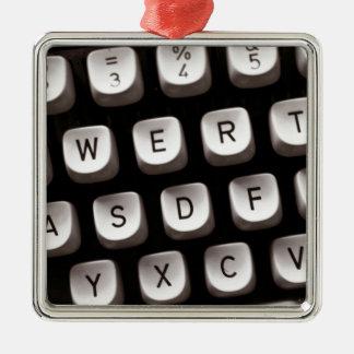 Old_Typewriter Metal Ornament