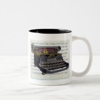 Old Typewriter Two-Tone Coffee Mug