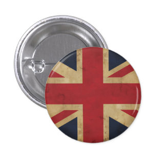 Old Union Jack Flag  Button Badge