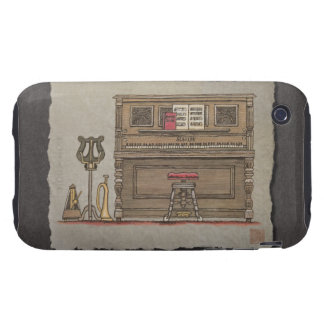 Old Upright Piano Tough iPhone 3 Cover